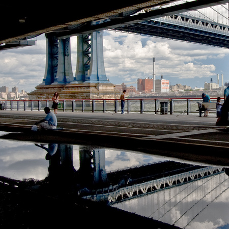 Manhattan Bridge Reflection