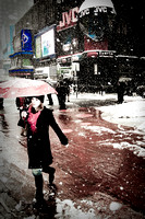 snowing in times sq