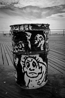 boardwalk trash can art