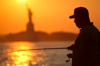 fishing at sunset, red hook