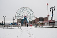 Coney Island in the Snow
