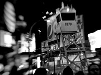 Times Square at Night b&w